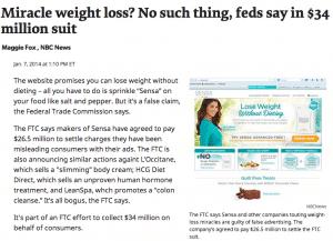 FTC and Sensa