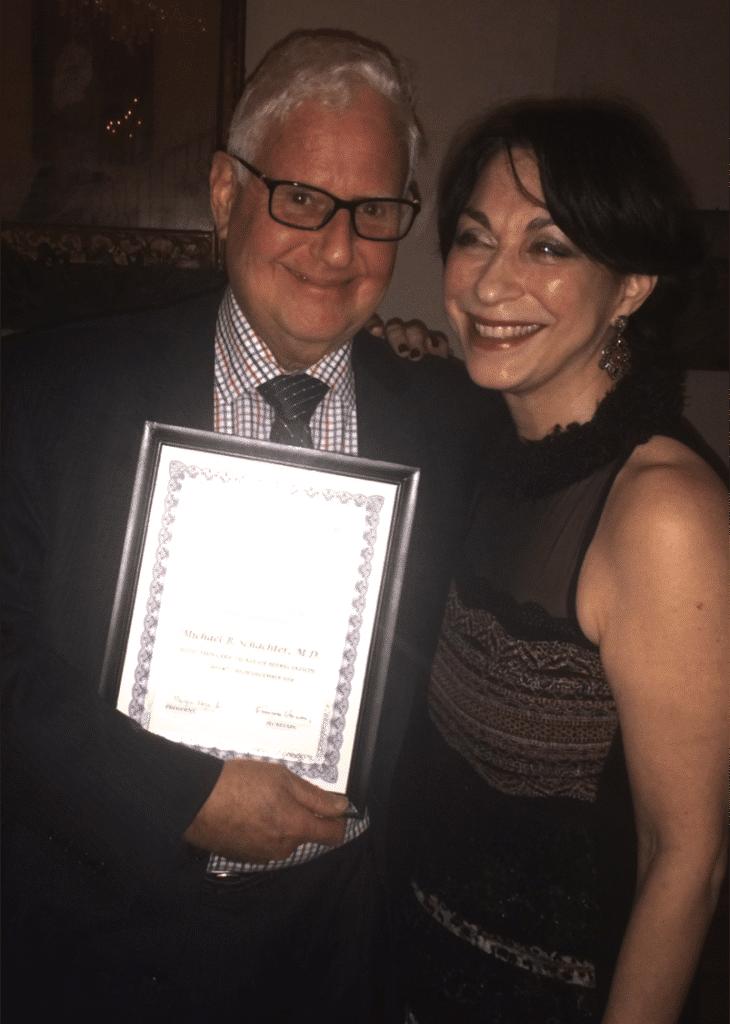 Dr Michael Schachter and Sylvie Beljanski
